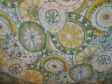 Circles Tapestry Yellow Green Teal Chenille Upholstery Fabric