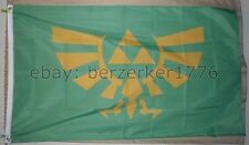Legend of Zelda Triforce 3'x5' Green Flag Banner Nintendo Link - USA Seller