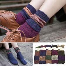 5 Pairs/Lot 5 Color Women Lady Winter Warm Cotton Blend Knit Piles Boots Socks