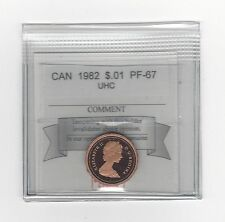 **1982**, Coin Mart Graded Canadian, Small One Cent, **PF-67 UHC**