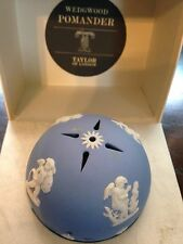 VINTAGE BLUE WEDGWOOD POMANDER IN BOX TAYLOR OF LONDON WITH FREE SHIPPING