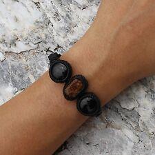 Rare Buddhist Lek Nam Pee Phi Blessed Onyx Bracelet | Prayer Meditation Healing