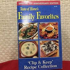 Taste of Home's Family Favorites: Clip and Keep Recipe Collection Special 10th