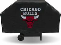"Chicago Bulls Deluxe Grill Cover 68"" x 21"" x 35"" Fits Most Large Grills"