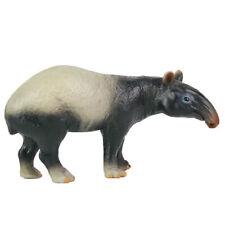 Malayan Tapir Model Realistic Wild Animal Figure Solid Plastic Toy