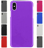 For Apple iPhone XS iPhone X Hard Snap on One Piece Back Cover Case