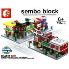 Sembo City Street Cola Starbucks McDonald KFC Shop Mini Blocks Building Toy 8pcs