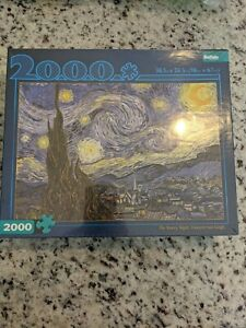 """Buffalo Games """"The Starry Night"""" Vincent Van Gogh - 2000 Piece Jigsaw Puzzle"""