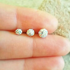 16g Disco Ball Cartilage Earring tiny glitter ball Crystal earrings triple helix