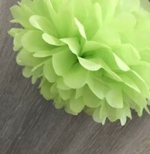 12x Lime Green paper pom poms wedding party bridal baby shower backdrops decor