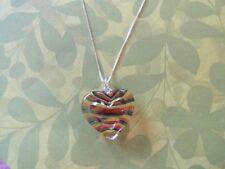 heart pendant Glass puffed