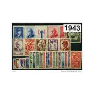 France complete year set 1943  MNH 31 stamps