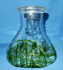 USA 28 oz Green Clear Hand Blown Art Glass Water Wine Carafe Juice