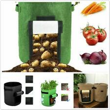 Garden Planter Bag For Grow Vegetables Reuseable Breathable Felt Pot JH