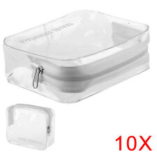 10PCS HOLIDAY TRAVEL TOILETRIES Clear Plastic Airline Airport Toiletry Bag