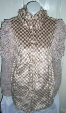 TOPSHOP BOUTIQUE FAUX FUR  AND KNITTED COATIGAN UK SIZE 8  EUR 36 US SIZE 4