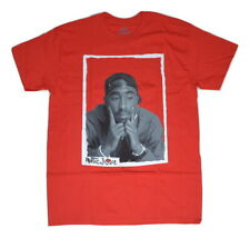 Tupac 2pac Shakur Poetic Justice Men's All Alone Licensed T-Shirt Red Rap NWT