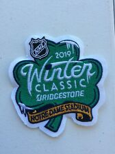 2019 WINTER CLASSIC PATCH NHL OFFICIAL HOCKEY BRIDGESTONE SPONSORED NOTRE DAME