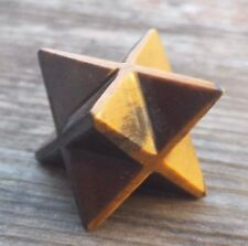 NATURAL TIGER EYE GEMSTONE MERKABA STAR (ONE) - BUY IT NOW