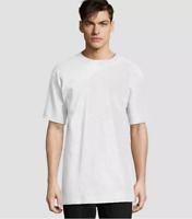 Hanes Men's Tall Short Sleeve Beefy T-Shirt White Size Large Tall NWT