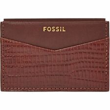 NEW FOSSIL MEN'S LEATHER FRANCIS CARD CASE FRONT POCKET WALLET COGNAC ML3502222