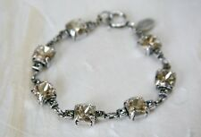 NWT ~ La Vie Parisienne Catherine Popesco Antique Silver Crystal Bracelet 1695B