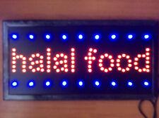 Flashing   LED HALAL FOOD Shop Sign Neon Display Window Hanging Light