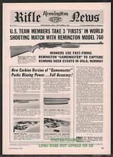 1961 REMINGTON Model 760 Gamemaster Rifle AD w/images of new Carbine