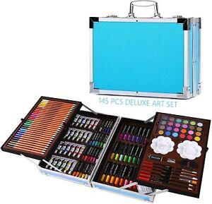 145PCS Professional Artist Pencils Set Drawing Sketching Colouring Art Kit Adult