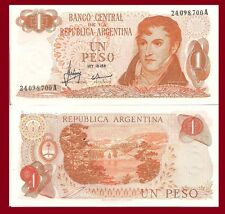 Argentina P287. 1 Peso, Gen. Belgrano / Llao-Llao, Bariloche mountain resort UNC