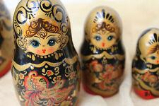 LACK MALEREI Russland ♛ 9x MATRIOSCHKA Matruska Babuska Puppe 26cm 🍬
