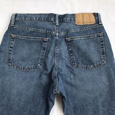 Eddie Bauer Flannel Lined Jeans Relaxed Fit Straight Leg Mens Sz 32 x 30 Plaid