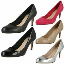 Clarks Patternless Patent Leather Heels for Women