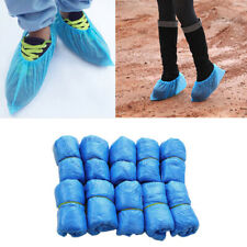 100PCS Disposable BLUE  Over Shoes / Shoe Boot Covers Carpet Protectors