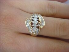 GORGEOUS 14K YELLOW GOLD 1 CARAT T.W. LADIES DIAMOND RING, 4.7 GRAMS, SIZE 7