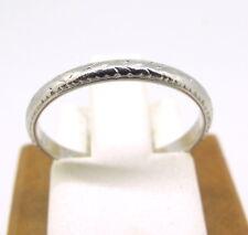 Antique Vintage Platinum Band Ring Size 5.25