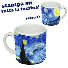 Tazzina da caffè espresso La Notte Stellata di Van Gogh, full printed!
