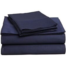 New King Sheet Set 500 Thread Count Cotton Wrinkle Free-Navy