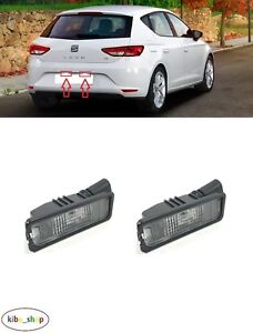 FOR SEAT LEON 5F 2012 - 2019 2X NEW REAR NUMBER PLATE LIGHT LAMPS PAIR L + R