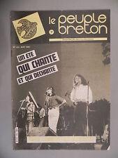 Le Peuple Breton - N°224 août 1982 - Un été qui chante et qui déchante