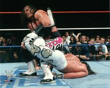 WWE PHOTO BRET HITMAN HART WRESTLING 8x10 PROMO vs SHAWN MICHAELS WRESTLEMANIA