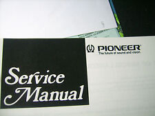 Pioneer Service Manual Original Paper, message model number, make offer