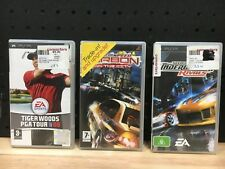 3 X PSP GAMES NEED FOR SPEED MOST WANTED + CARBON OWN THE CITY, TIGER WOODS