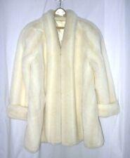Vtg Carly Monterey Plush White Fox Faux Fur Swing Coat Jacket  Sz XL-1X
