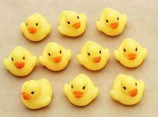 Hot sale Baby Bathing Bath Toys Rubber Squeaky Race Yellow Mini Ducks 3.5x3.5cm