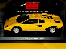 Lamborghini Countach Lp400 Yellow KYOSHO 08321Y 1:18