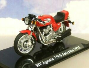 IXO/ATLAS 1/24 CLASSIC MOTORBIKES 1973 MV AGUSTA 750S AMERICA  MOTORCYCLE IN RED