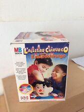 Rarissimo gioco da tavola L'allegro Chirurgo Neurochirurgo Mb 2003 nuovo in box