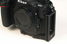 L bracket for Nikon D500 works with RRS Kirk Markins Wimberley Foba Acratech