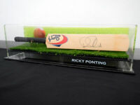 ✺Signed✺ RICKY PONTING Cricket Mini Bat COA Australia 2020 Shirt Jersey